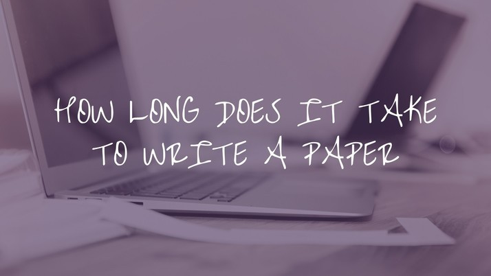 How long does it take to write a paper